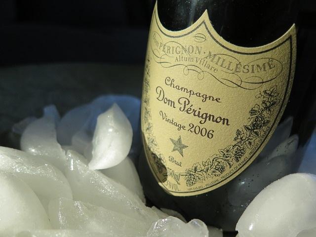 Hielo pile para champagne